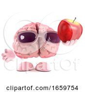 3d Brain Loves Apples by Steve Young