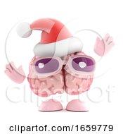 3d Brain Santa