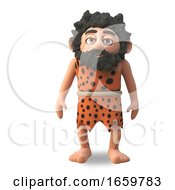 Wild Caveman 3d Cartoon Character A Great Hunter Gatherer Stands Peacefully While Contemplating His Next Move by Steve Young