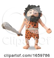 Simple Caveman 3d Cartoon Character Shrugs With Undisguised Stupidity by Steve Young
