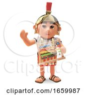 Maths Minded Roman Centurion Soldier Holding An Abacus