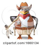 Brave Penguin Sheriff The Lone Cowboy Smokes On A Peace Pipe by Steve Young