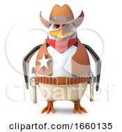 Calm Sheriff Penguin The Lone Cowboy Stands Ready For Anything by Steve Young