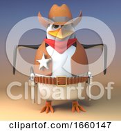 WIld West Penguin Cowboy Sheriff Is Quick On The Draw In Any Gun Duel