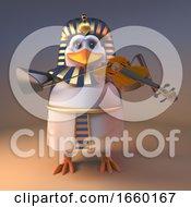 Musical Pharaoh Penguin Tutankhamun Playing Music On A Violin