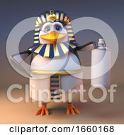 Regal 3d Penguin Pharaoh Tutankhamun Holding An Aerosol Spray Can by Steve Young