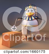 Poster, Art Print Of Democratic Pharaoh Penguin Tutankhamun Votes In The Local Election