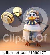 Powerful Pharaoh Penguin Tutankhamun Lifts Weights Effortlessly