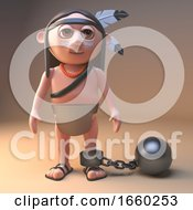 Naughty Native American Indian Is Wearing A Ball And Chain
