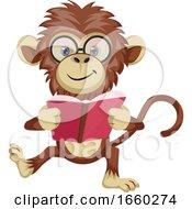 Monkey Reading Book