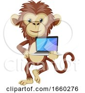 Monkey With Lap Top