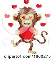 Poster, Art Print Of Monkey With Big Heart
