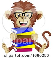 Monkey With Books