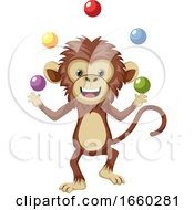 Monkey Juggling With Balls