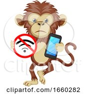 Monkey With No Wifi Signal by Morphart Creations