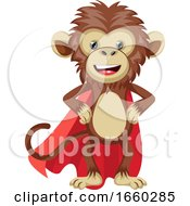Monkey With Red Cape