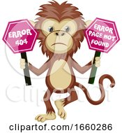 Monkey With 404 Error Sign