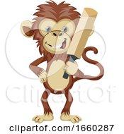 Monkey With Cricket Bat