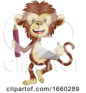 Monkey With Envelope