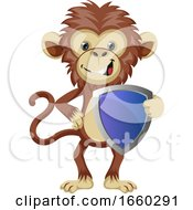 Monkey With Shield