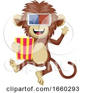 Poster, Art Print Of Monkey With 3d Glasses