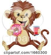 Monkey With Donut