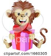 Monkey With Birthday Present