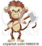 Monkey Holding Axe