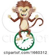 Monkey With Clock