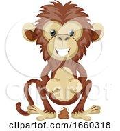 Monkey Pooping