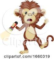 Monkey With Flashlight