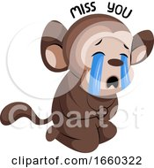 Crying Cute Monkey Saying Miss You