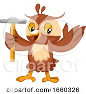 Poster, Art Print Of Owl With Hammer