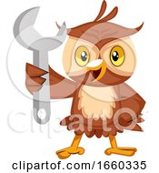 Owl With Wrench