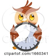 Owl With Big Clock