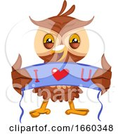 Owl With I Love You Sign