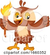 Owl With Torch