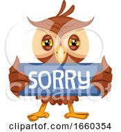 Owl With Sorry Sign