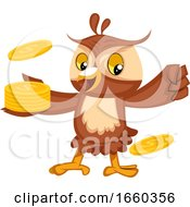 Owl With Coins