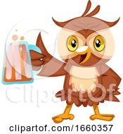 Owl With Beer