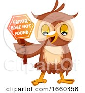 Owl With 404 Error Sign