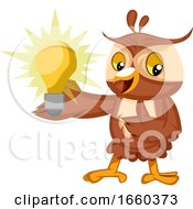 Owl With Lightbulb