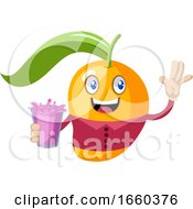 Mango Holding Pink Juice