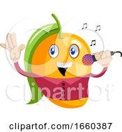 Mango Holding Microphone