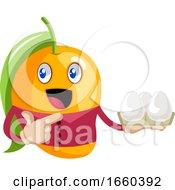 Mango Holding Eggs