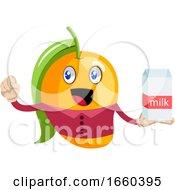 Mango Holding Milk