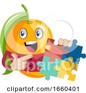 Poster, Art Print Of Mango Holding Puzzle