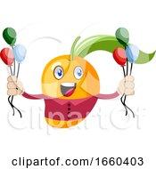 Mango Holding Balloons