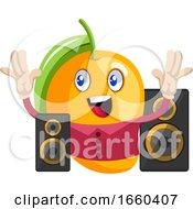 Mango With Speakers
