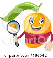 Mango With Magnifying Glass